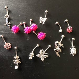 Lot of 14 Navel Belly Rings